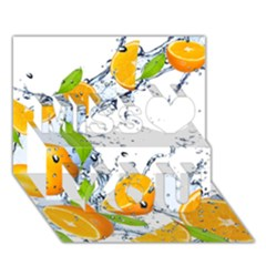 Orange Fruits Water Food Miss You 3D Greeting Card (7x5)