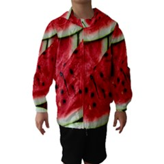 Fresh Watermelon Slices Texture Hooded Wind Breaker (Kids)