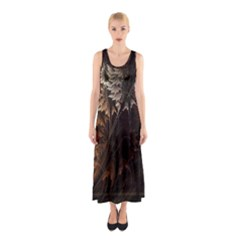Fractalius Abstract Forests Fractal Fractals Sleeveless Maxi Dress