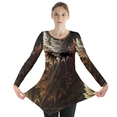 Fractalius Abstract Forests Fractal Fractals Long Sleeve Tunic