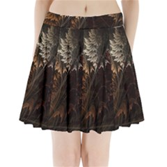 Fractalius Abstract Forests Fractal Fractals Pleated Mini Skirt