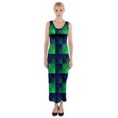 Fractal Fitted Maxi Dress