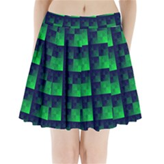 Fractal Pleated Mini Skirt