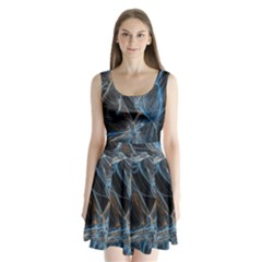 Fractal Tangled Minds Split Back Mini Dress