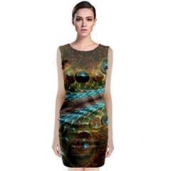 Fractal Snake Skin Classic Sleeveless Midi Dress