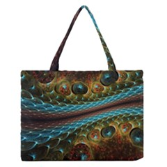 Fractal Snake Skin Medium Zipper Tote Bag