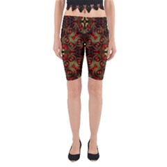 Fractal Kaleidoscope Yoga Cropped Leggings