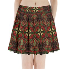 Fractal Kaleidoscope Pleated Mini Skirt