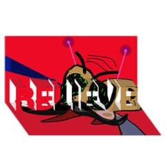 Mr Fly BELIEVE 3D Greeting Card (8x4)