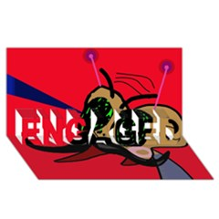 Mr Fly ENGAGED 3D Greeting Card (8x4)