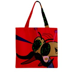 Mr Fly Zipper Grocery Tote Bag