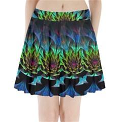 Fractal Flowers Abstract Petals Glitter Lights Art 3d Pleated Mini Skirt