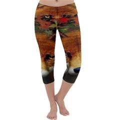 Fox Capri Yoga Leggings