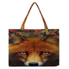 Fox Medium Zipper Tote Bag