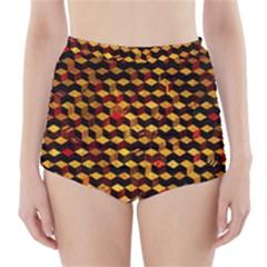 Fond 3d High-Waisted Bikini Bottoms