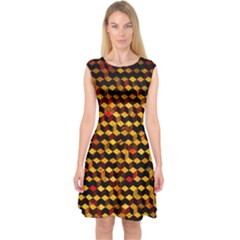 Fond 3d Capsleeve Midi Dress