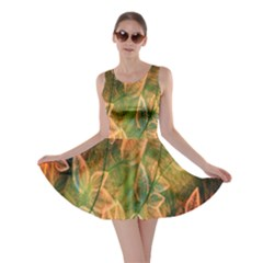 Foliage Design Abstraction Skater Dress