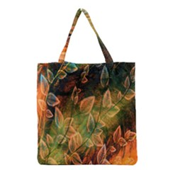 Foliage Design Abstraction Grocery Tote Bag