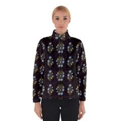 Blue Flowers on Black Winterwear
