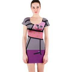 Sponge girl Short Sleeve Bodycon Dress