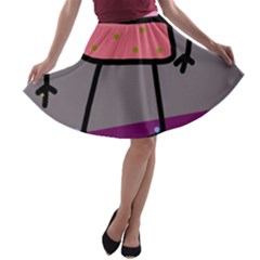 Sponge girl A-line Skater Skirt