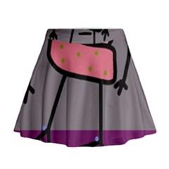 Sponge girl Mini Flare Skirt