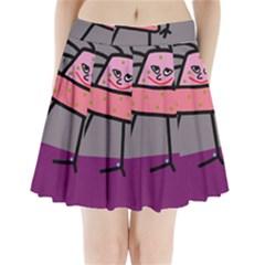 Sponge girl Pleated Mini Skirt