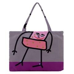 Sponge girl Medium Zipper Tote Bag