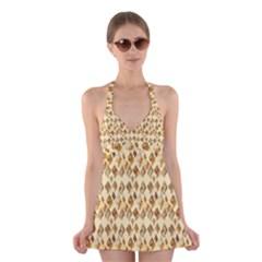 Shell We Dance? Halter Swimsuit Dress