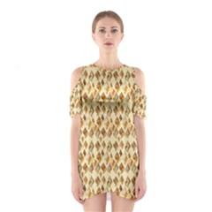 Shell We Dance? Cutout Shoulder Dress