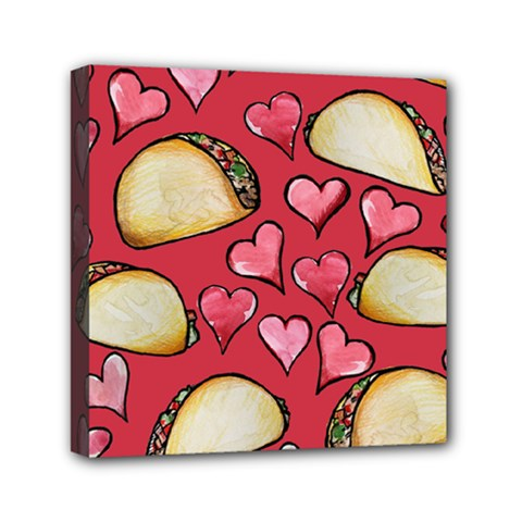 Taco Tuesday Lover Tacos Mini Canvas 6  X 6