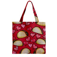 Taco Tuesday Lover Tacos Zipper Grocery Tote Bag