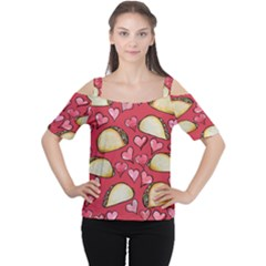 Taco Tuesday Lover Tacos Women s Cutout Shoulder Tee