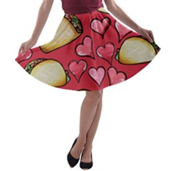 Taco Tuesday Lover Tacos A Line Skater Skirt
