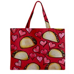 Taco Tuesday Lover Tacos Medium Zipper Tote Bag