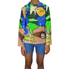 Aquarium  Kids  Long Sleeve Swimwear