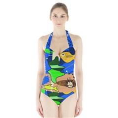Aquarium  Halter Swimsuit