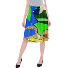 Aquarium  Midi Beach Skirt