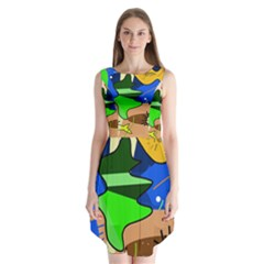 Aquarium  Sleeveless Chiffon Dress