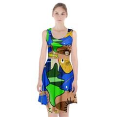 Aquarium  Racerback Midi Dress