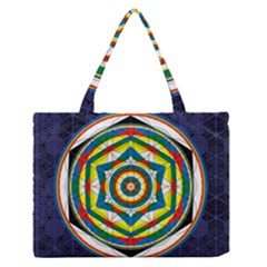 Flower Of Life Universal Mandala Medium Zipper Tote Bag