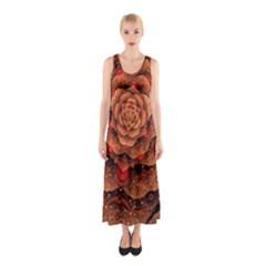 Flower Fractal Sleeveless Maxi Dress