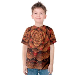 Flower Fractal Kids  Cotton Tee