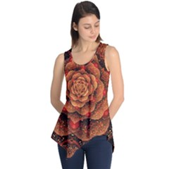 Flower Fractal Sleeveless Tunic