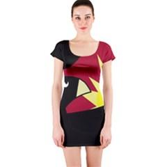 Eagle Short Sleeve Bodycon Dress