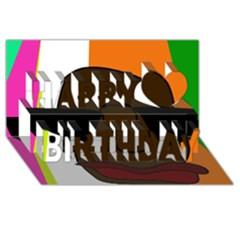 Cool Happy Birthday 3D Greeting Card (8x4)