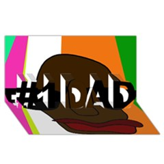 Cool #1 DAD 3D Greeting Card (8x4)