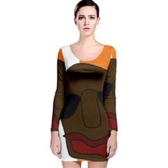 Cool Long Sleeve Velvet Bodycon Dress