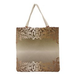 Floral Decoration Grocery Tote Bag