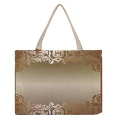 Floral Decoration Medium Zipper Tote Bag